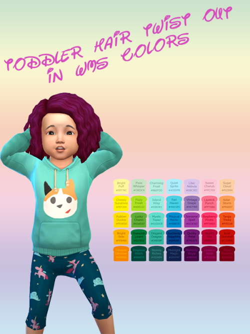 "Chillis Sims: Toddler Hair ""Twist Out"""