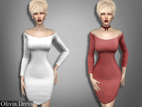 The Sims Resource: Olivia Dress by Genius666