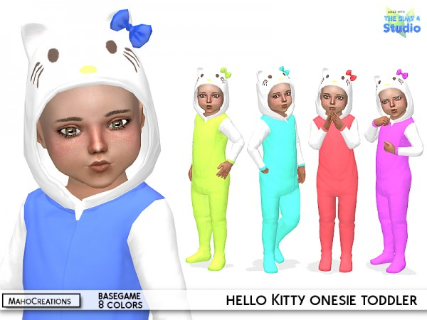 The Sims Resource: Hello Kitty Onesie Toddler by MahoCreations