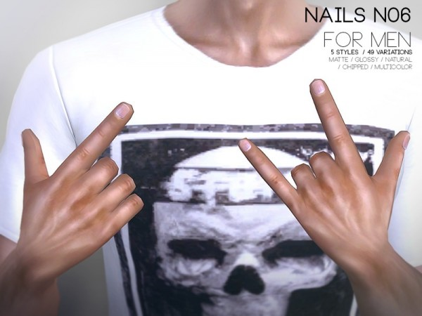 The Sims Resource: Nails For Men N06