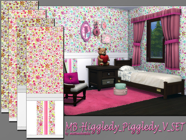 The Sims Resource: Higgledy Piggledy walls set by matomibotaki