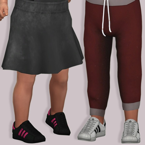 fc164d13ec8a LumySims  Semller Adidas Superstar for Toddlers • Sims 4 Downloads
