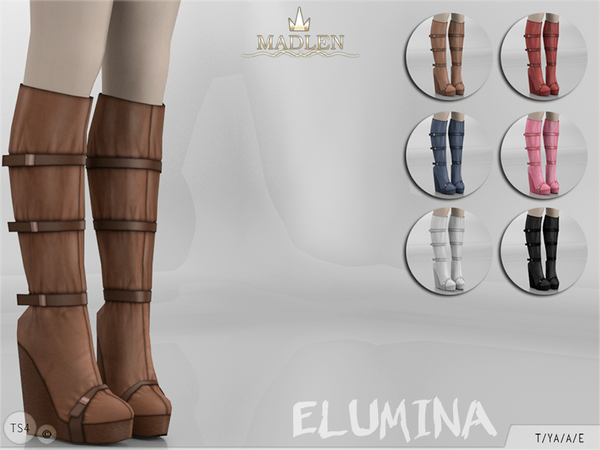 The Sims Resource: Madlen Elumina Boots by MJ95