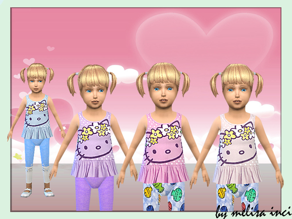 The Sims Resource: Toddler Frilly Tank Top by melisa inci