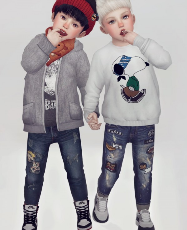 Kk Sims Toddlers Jeans Sims 4 Downloads