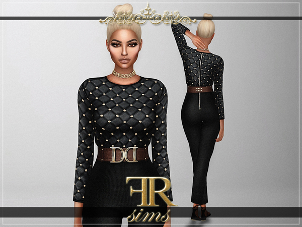 The Sims Resource: Royalty Jumpsuit by FashionRoyaltySims