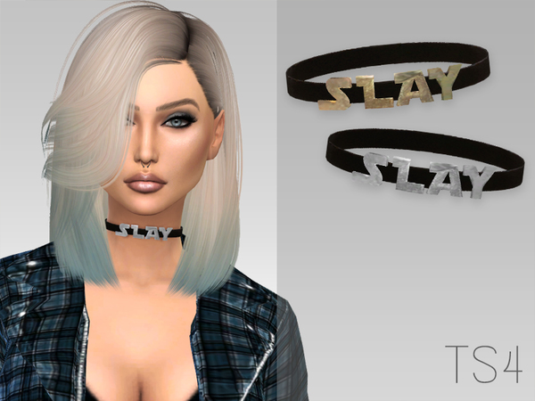The Sims Resource: Slay Choker by GrafitySims