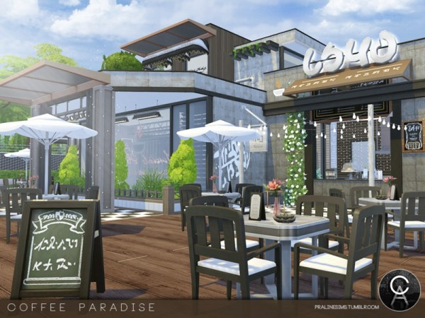 The Sims Resource: Coffee Paradise by Pralinesims