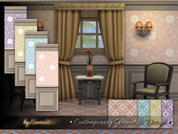 The Sims Resource: Contemporary Geometric Design by emerald