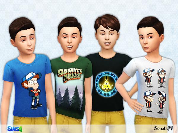 The Sims Resource: T shirt boy 14 by Sonata77