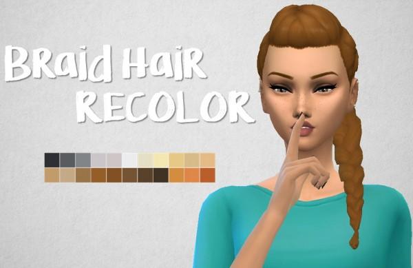 Choco Sims: Braid hair recolor