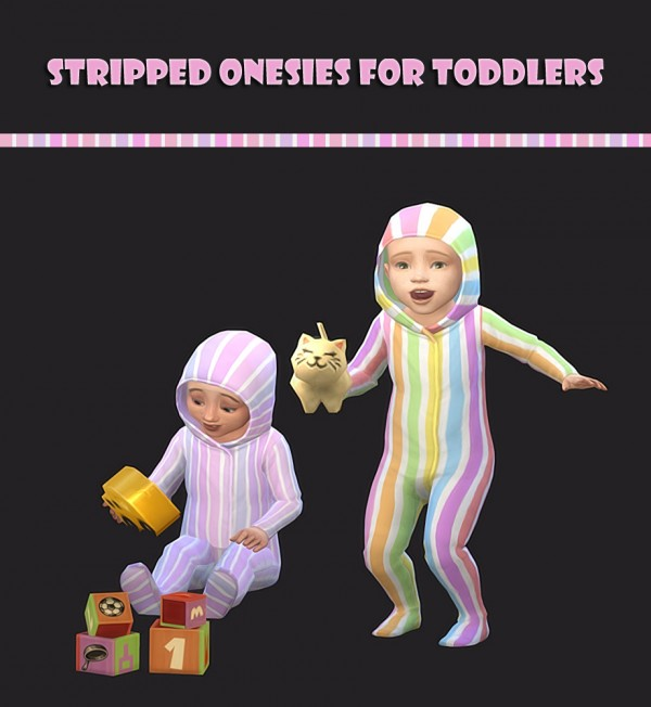 Simsworkshop: Stripped Onesies by maimouth