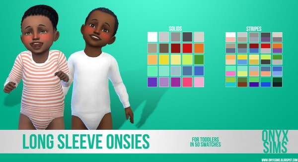 Onyx Sims: Long Sleeve Onsies for Toddlers