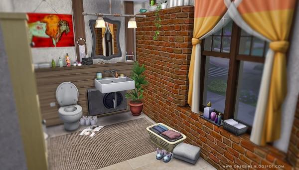 Onyx Sims: Rustic bathroom