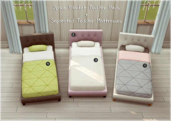 Allisas Space Blanket Toddler Beds Sims 4 Downloads