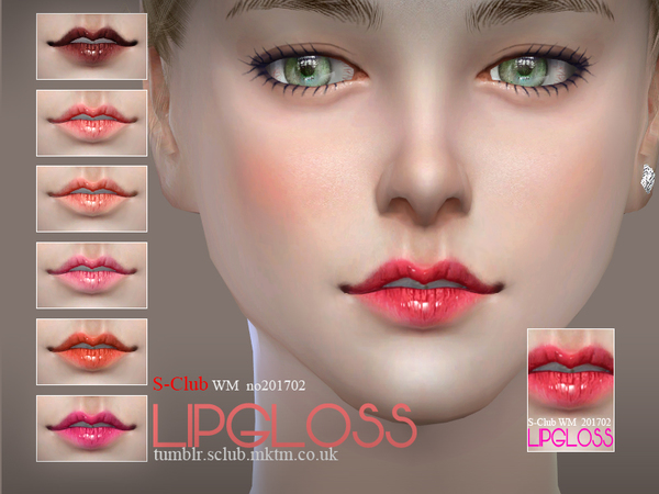 The Sims Resource: Lipgloss 201702 by S Club