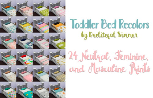 Deelitefulsimmer Toddler Bed Recolor O Sims 4 Downloads