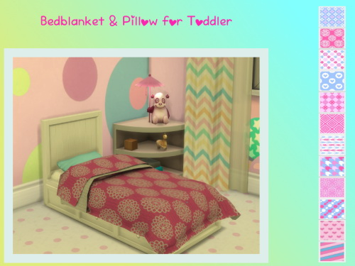 Chillis Sims Blanket And Pillow For Toddler Beds Sims 4