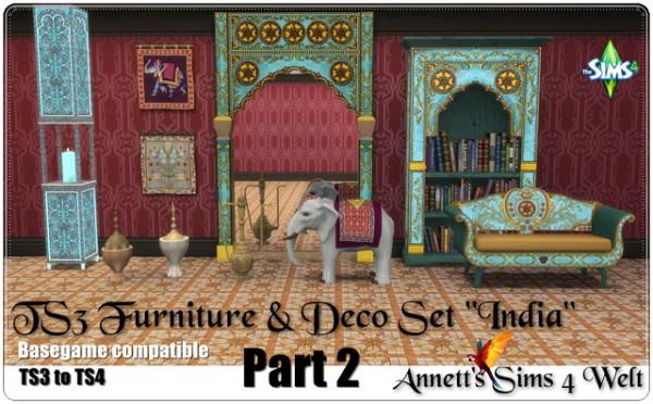 Annett`s Sims 4 Welt: Deco & Furniture Set India   Part 2