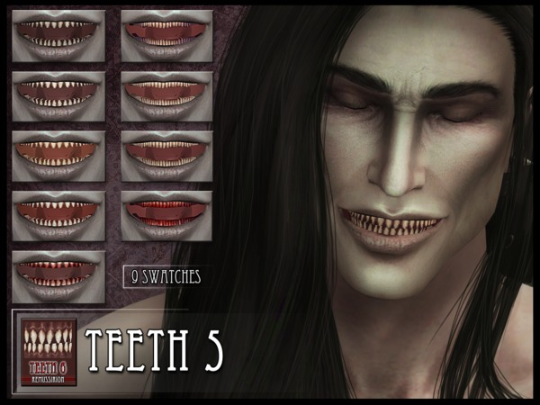 The Sims Resource: Monster Teeth 5 by RemusSirion