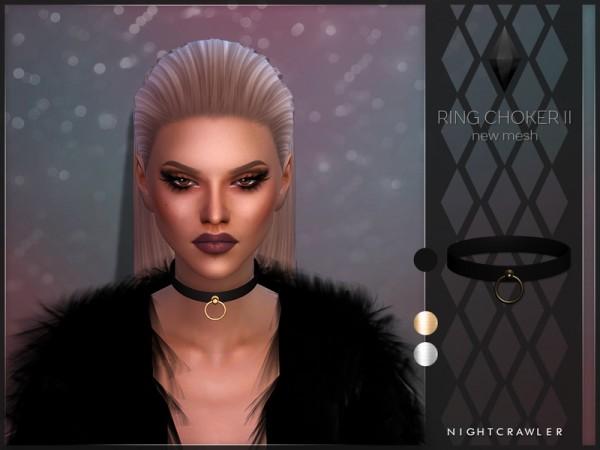 The Sims Resource: Ring Choker II by Nightcrawler Sims