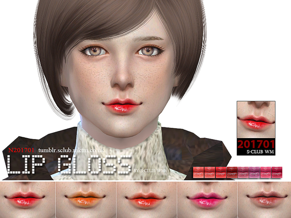 The Sims Resource: Lipstick 201701 by S Club