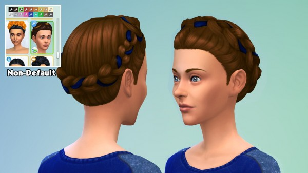 Mod The Sims: Lolita   style Crown Braid by 1gboman