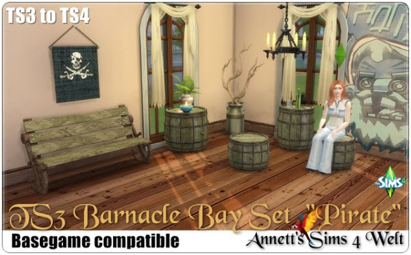 Annett`s Sims 4 Welt: Barnacle Bay Set Pirate