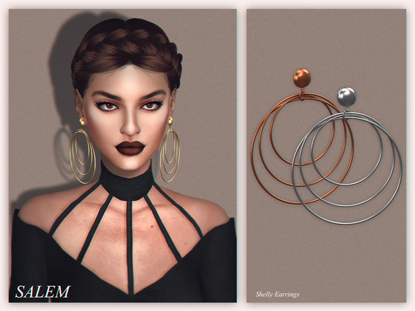 The Sims Resource: Shelly Earrings by Salem C