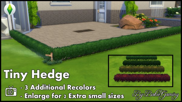 Mod The Sims: Tiny Hedge by Bakie