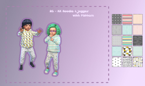 Chillis Sims: Hoddie and Jogger with Pattern