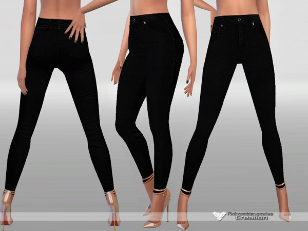 The Sims Resource: Skinny Black Jeans by Pinkzombiecupcakes