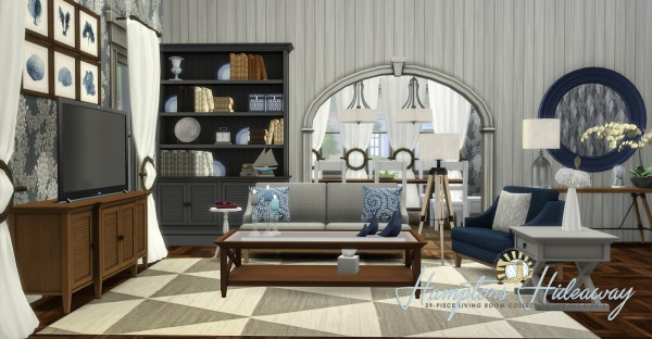 Simsational designs: Hamptons Hideaway   Living Room Set