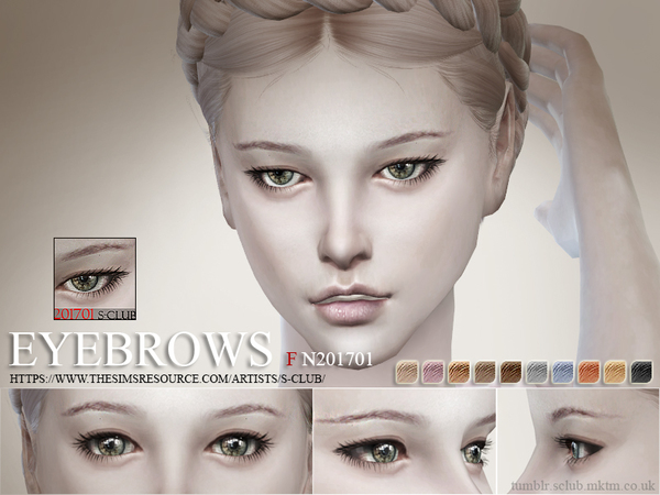 The Sims Resource: Eyebrows F 201701 by S Club