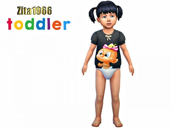 The Sims Resource: Toddler Tops by ZitaRossouw