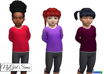 NY Girl Sims: Long Sleeve Tee with White Undershirt