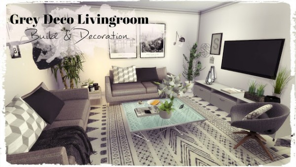Dinha Gamer: Grey Deco Livingroom