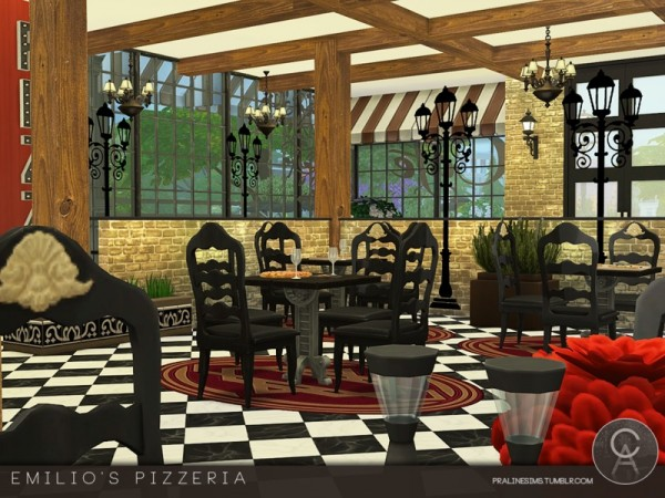 The Sims Resource: Emilios Pizzeria by Pralinesims