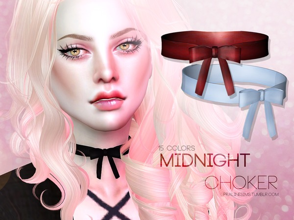 The Sims Resource: Midnight Choker by Pralinesims