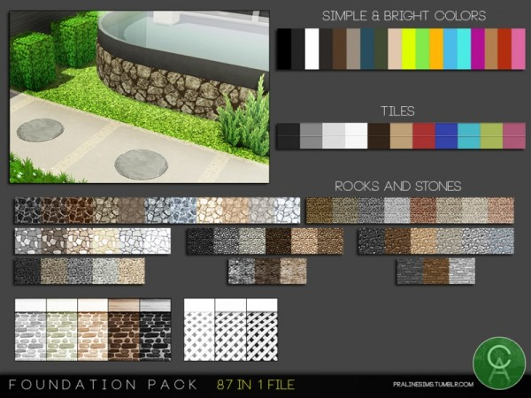 The Sims Resource: Foundation Pack by Pralinesims