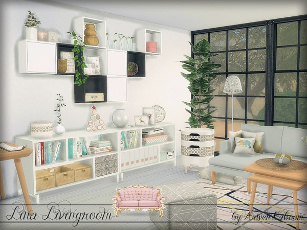 The Sims Resource Lina Livingroom By Arwenkaboom Sims 4
