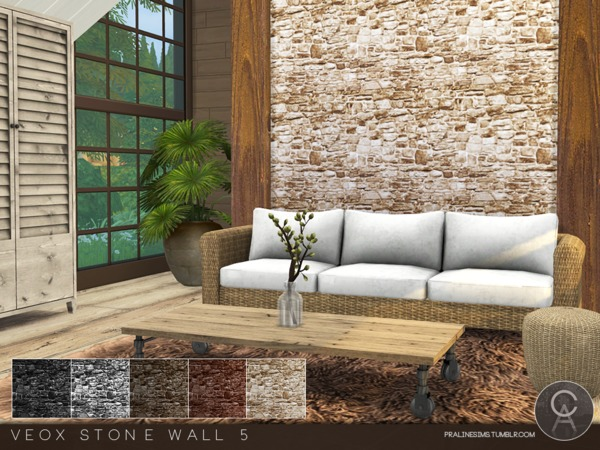 The Sims Resource: VEOX Stone Wall 5 by Pralinesims
