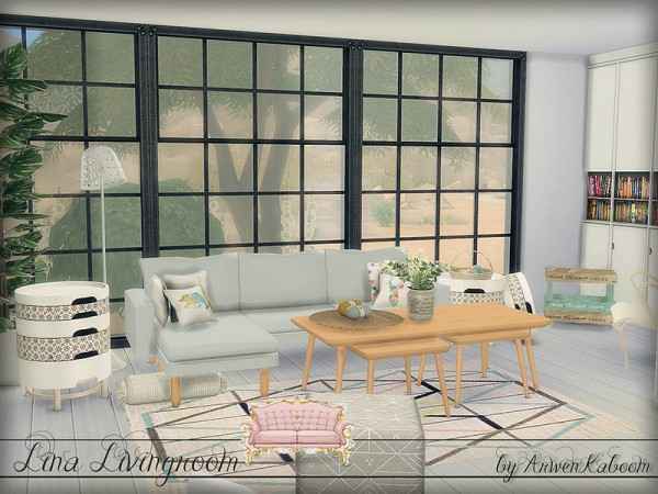 The sims resource lina livingroom by arwenkaboom sims 4 for Modern living room sims 4