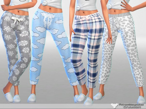 The Sims Resource: Dreaming is Free pajama pants collection by Pinkzombiecupcakes