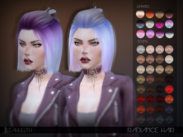 The Sims Resource: LeahLillith Radiance Hair
