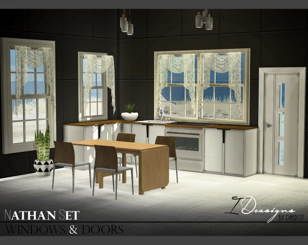 Sims 4 Designs: Nathan Set Windows and Doors