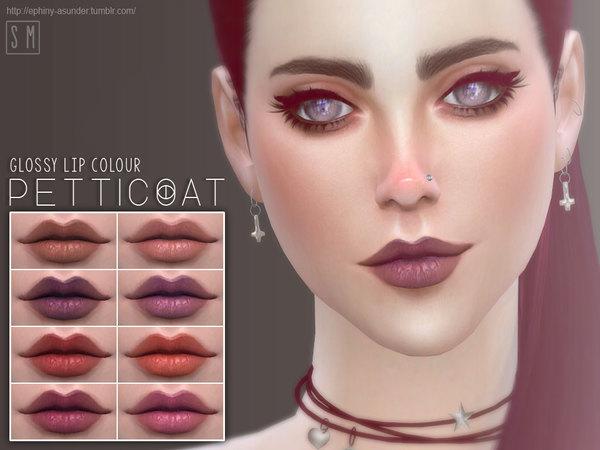 The Sims Resource: Petticoat   Glossy Lip Colour