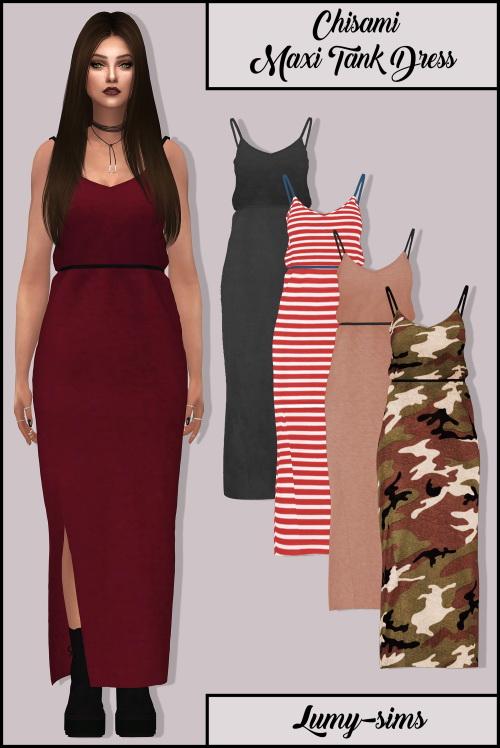 LumySims: Chisami Maxi Tank Dress
