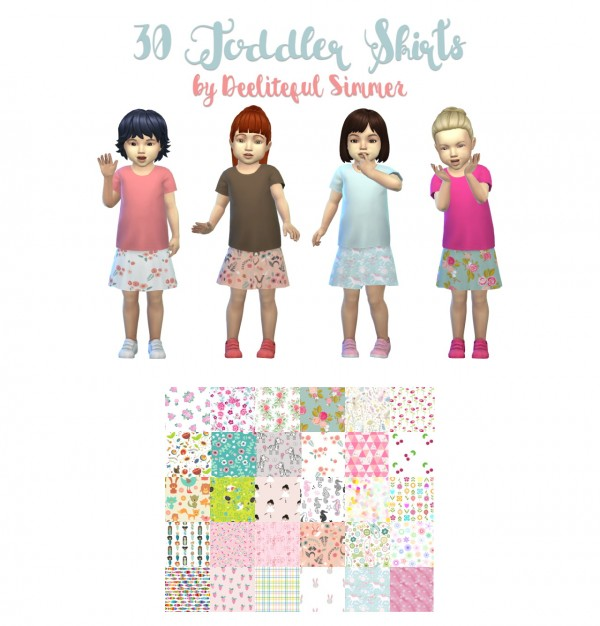 Deelitefulsimmer: Toddlers skirts