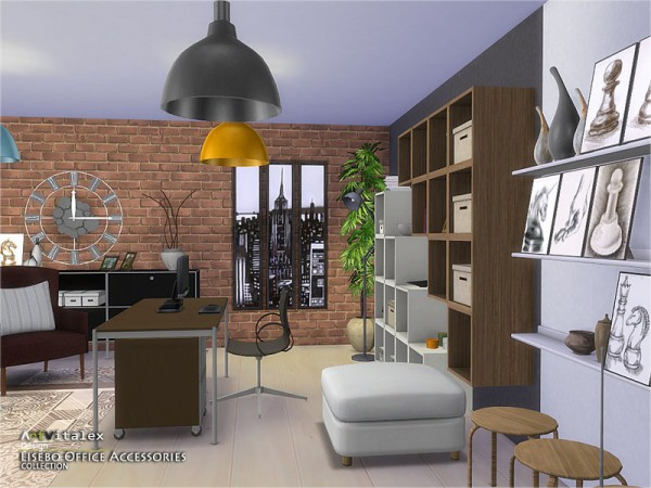 The Sims Resource: Lisebo Office Accessories by ArtVitalex